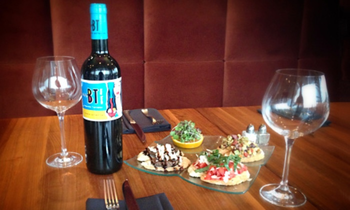 Indulge Bistro and Wine Bar - Littleton: $19 for a Bottle of European Wine and a Crostini Trio at Indulge Bistro and Wine Bar ($40 Value)