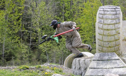 Paintball Package with Rental Gear and Unlimited Air for Two, Four, or Eight (Up to 58% Off)