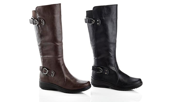 Rasolli Lala-06 Women's Wide-Width Riding Boots (Size 5.5)