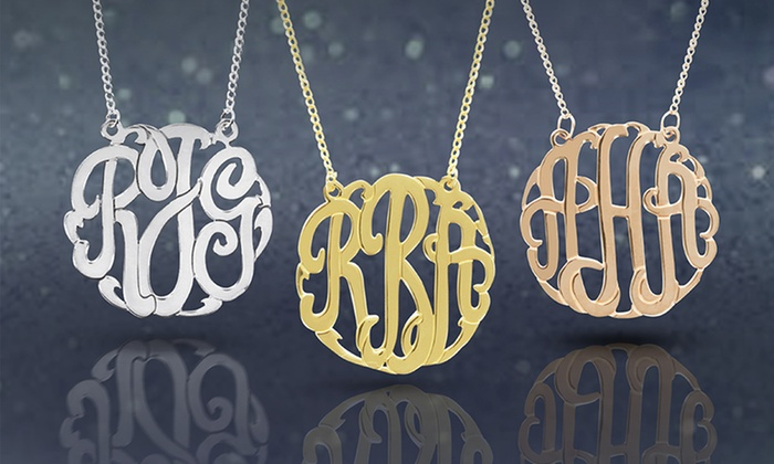 Personalized Monogram Necklace from Monogram Online: Personalized Monogram Necklace from Monogram Online