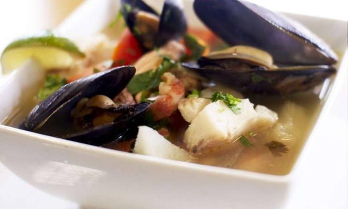 La Esquina de la Fama - Coral Way: Cuban Seafood or Meat Dinner with Wine for Two at La Esquina de la Fama (55% Off)