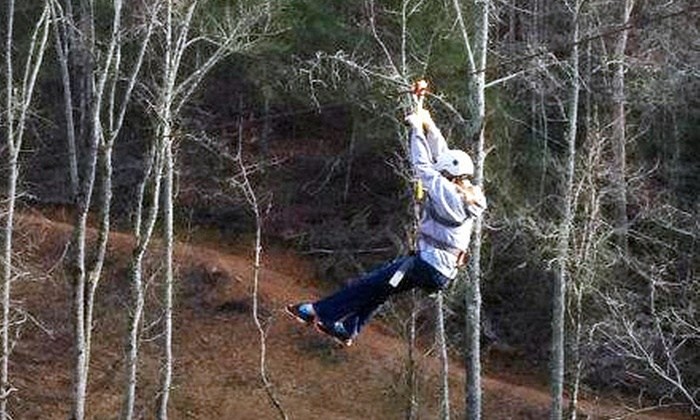 Cherokee Valley Ranch - Jasper: Ziplining and Tobogganing for 2 or 4 or Birthday Party at Cherokee Valley Ranch in Jasper (Up to 62% Off)