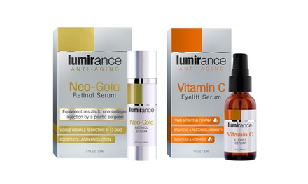 Lumirance Anti-Aging Kit with Neo-Gold Retinol Serum and Vitamin C Serum