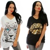 Lyss Loo Women's Plus-Size Graphic Tops