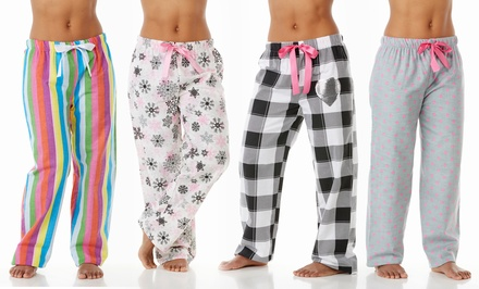 Women's Flannel Pajama Pants in Assorted Prints (2-Pack)