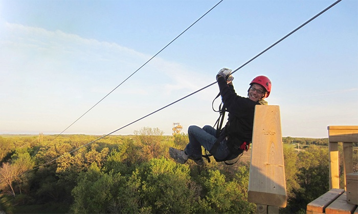 A Maze In Corn - St Adolphe: Two-Hour Ziplining Tour for Two or Four at A Maze in Corn (Up to 46% Off)