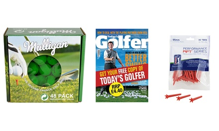 Mulligan 48 Practice Golf Balls and 30 PGA Tour Golf Tees
