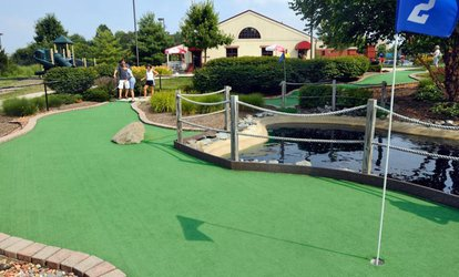 2 or 4 Rounds of Mini Golf or 4 Rounds of Mini Golf & <strong>Batting</strong>-Cage Tokens at Columbia SportsPark (Up to 57% Off)