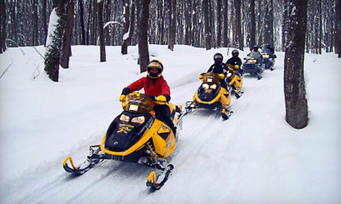 RideOn Rentals - Collingwood: Snowshoe Tour or Snowmobile Rental for Two, or Both from RideOn Rentals (Up to 53% Off)