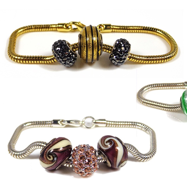 Charm bracelet,heart and butterfly charm,gold color,red//black//green//purple glass