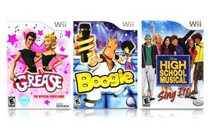 3 Singing Games with Microphone for Nintendo Wii