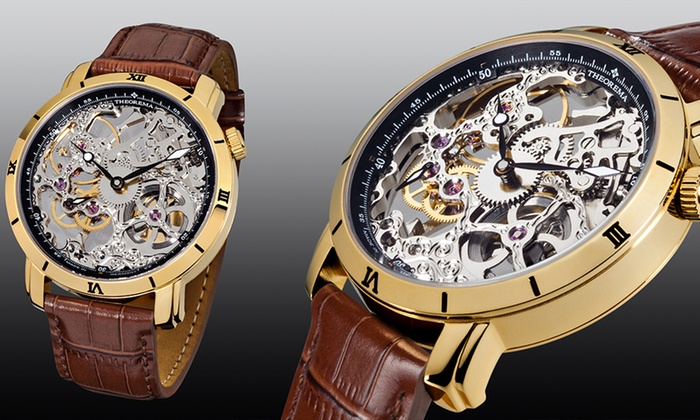 Mens Theorema Rio Skeleton Watch 3