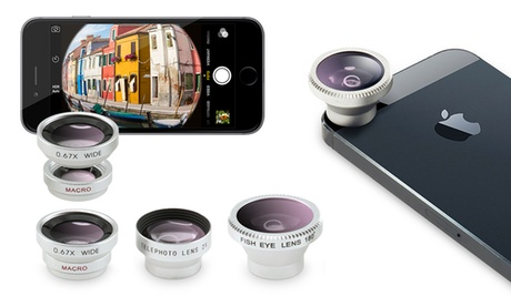 Kit di 4 lenti in 1 per smartphone e tablet