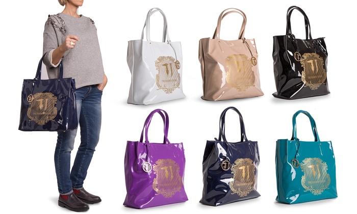 4bde3b8cab Fino a 54% su Borsa Trussardi Jeans in vernice | Groupon