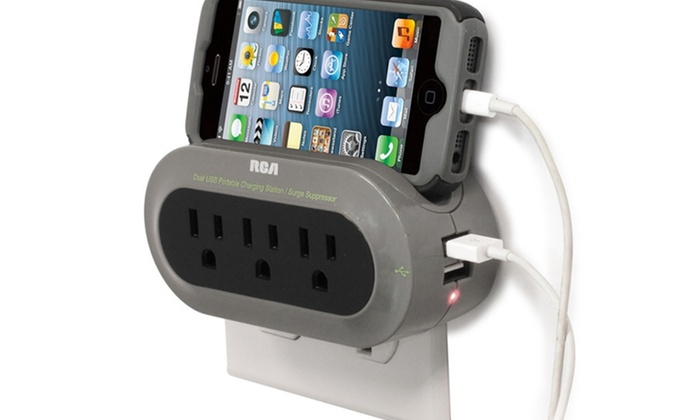 RCA Travel Charging Station and Surge Protector: RCA Travel Charging Station and Surge Protector. Free Returns.