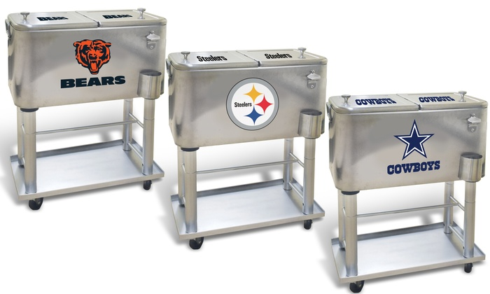 Nfl 60 Quart Detachable Stainless Steel Sports Coolers