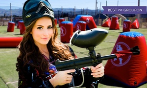 Paintball International: All-Day Paintball Package for 4, 6, or 12 with Equipment Rental from Paintball International (Up to 69%Off)
