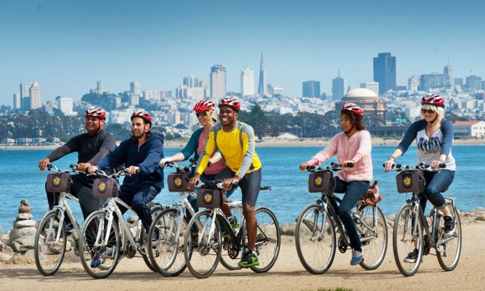 Bay City Bike - Fisherman's Wharf: Hybrid Bike Rental for One, Two, Three, Four, or Five from Bay City Bike (Up to 47% Off)