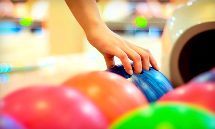 Surf Bowl - South Oceanside: $55 for Bowling Outing for Four or Six with Shoe Rentals, Pizza, and Soft Drinks at Surf Bowl in Oceanside (Up to 57% Off)