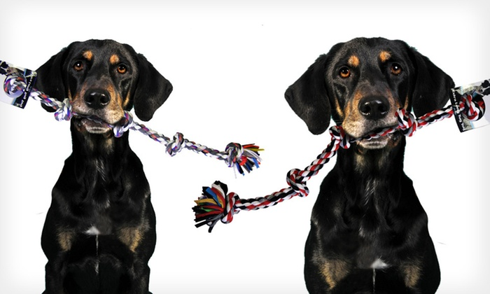 Bow-Wow Pet Extra-Large Knotted Rope Tug: $10 for a Bow-Wow Pet Extra-Large Knotted Rope Tug ($22.99 List Price). Four Colors Available. Free Returns.