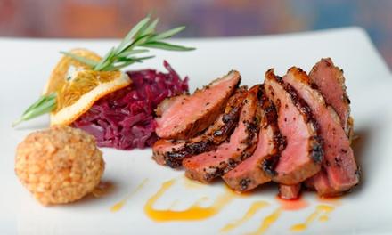 Dîner raffiné avec entrée, plat et dessert au choix pour 2 ou 4 personnes dès 39 € au bar restaurant lAdresse