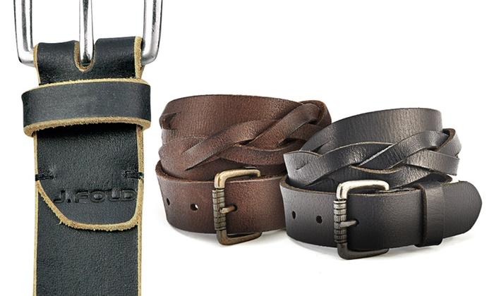 J.Fold Men's Wallet Restock: J.Fold Men's Leather Belts. Multiple Styles Available.