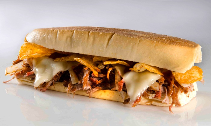 Daily Melt - Multiple Locations: Deluxe Package for Two with Soup or Chips, Melts, Drinks, and Dessert at Daily Melt ($28.25 Value)