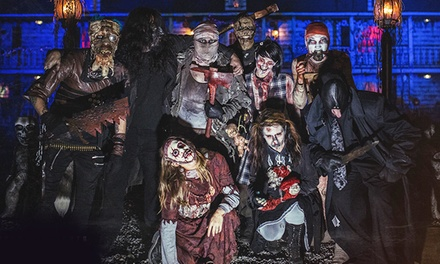 VIP Visit for Two to Spookyworld's Nightmare New England at Mel's Funway Park (40% Off). Two Options Available.