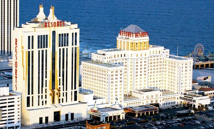 Stay with Daily Spa Admission and Dining Credit at Resorts Casino Hotel in Atlantic City. Dates into March Available.