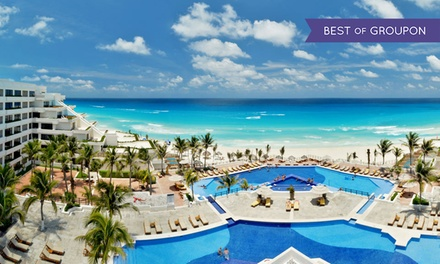 All-Inclusive Stay at Grand Oasis Sens in Cancún, with Dates into December. Includes Taxes and Fees.
