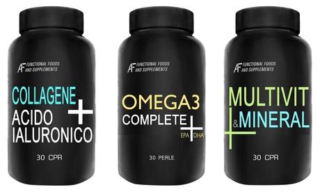 3 suplementos Wellness H24 A.I.F. de 30, 60 o 120 cápsulas cada uno