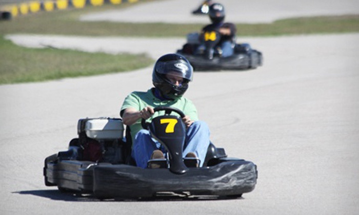 MSR Houston - Angleton: Two 15-Minute, High-Speed Go-Kart Races at MSR Houston (Up to 56% Off). Three Options Available.