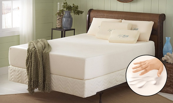 Nature's Sleep Memory-Foam Mattress: Nature's Sleep Visco Memory-Foam Mattress (Up to 77% Off). 10 Options Available. Free Shipping.