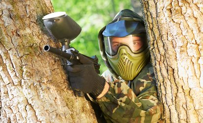 Bricket Wood Paintball: Full-Day Experience For Up to Ten People With 100 Balls Each for £10 (90% Off)