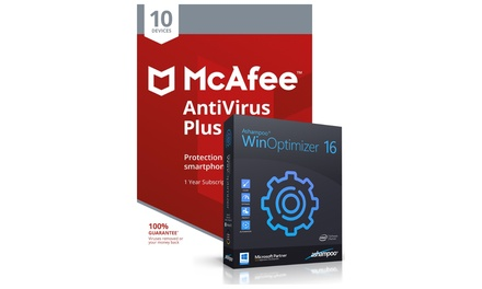 McAfee AntiVirus Plus 2019 and Ashampoo WinOptimizer 16