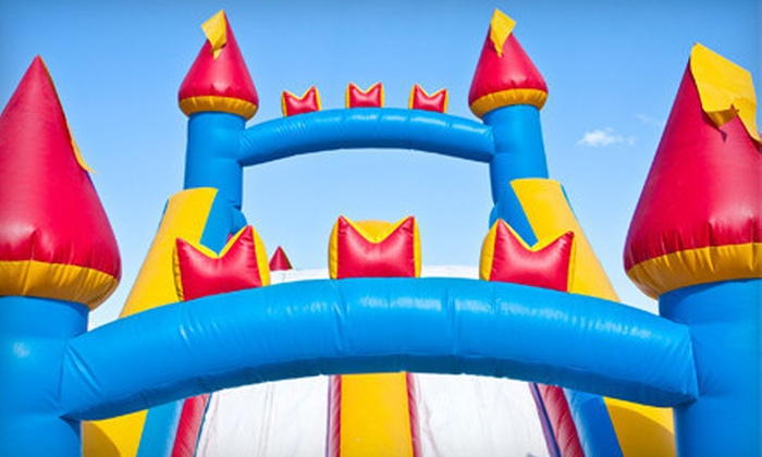 Bigtime Moonbounce - Heatherstone: Four-Hour Jumper Bounce-House Rental with Setup and Optional Concessions from Bigtime Moonbounce (Up to 55% Off)