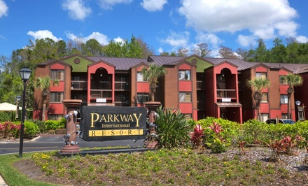 groupon daily deal - 2-Night Stay for Up to Six in a Two-Bedroom Condo at Parkway International Resort in Greater Orlando, FL