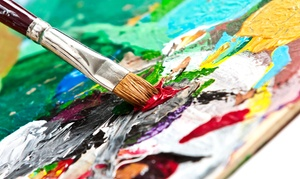 Painting And Wine Event For One, Two, Or Four At Paint