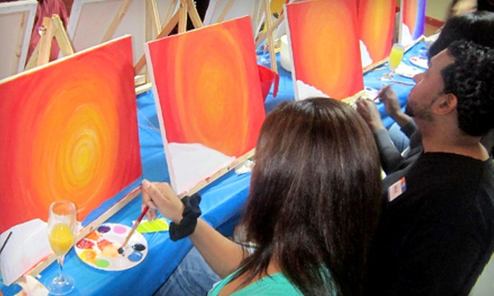 3Hues - Woodlake - Briar Meadow: Two- or Three-Hour Painting Class with Cupcakes for Two or Four at 3Hues (Up to Half Off)