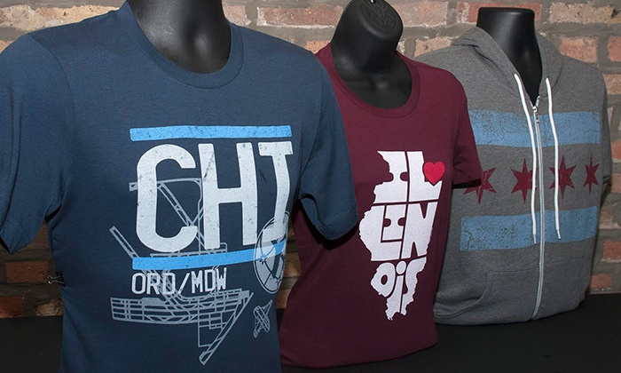 Transit Tees - Wicker Park: $40 or $80 Worth of Chicago-Themed Clothing from Transit Tees (Up to 44% Off)