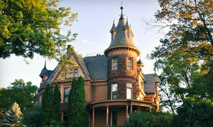 The Henderson Castle - Kalamazoo, MI: Four-Course Dinner for Two or Four or One-Night Stay with Dinner for Two at The Henderson Castle (Up to 56% Off)