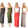 Super Soft Convertible Solid Maxi Skirts
