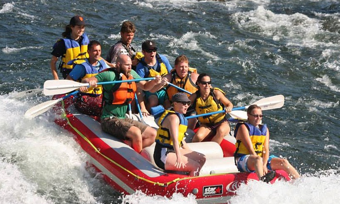 Action Whitewater Adventures - North El Dorado: Weekend Half- or Full-Day Rafting Trip and Hot Barbecue Lunch from Action Whitewater Adventures (Up to 46% Off)