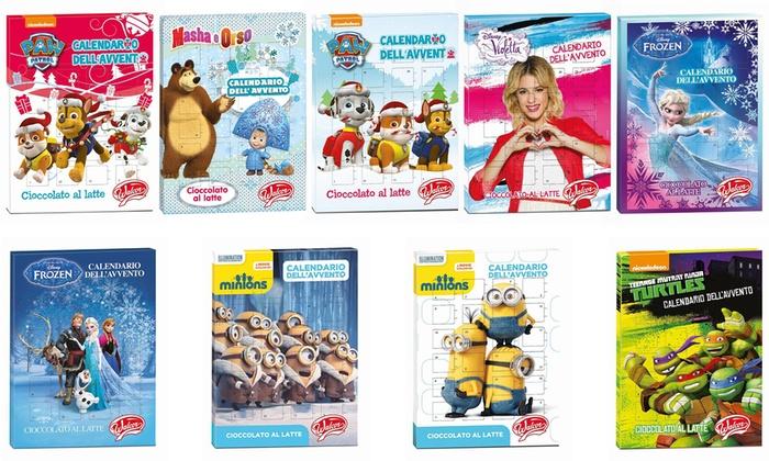 Calendario Avvento Haribo.Calendario Dell Avvento Con Pupazzo Dei Cartoni Animati Come Minions Frozen Violetta E Altri Vari Modelli Disponibili