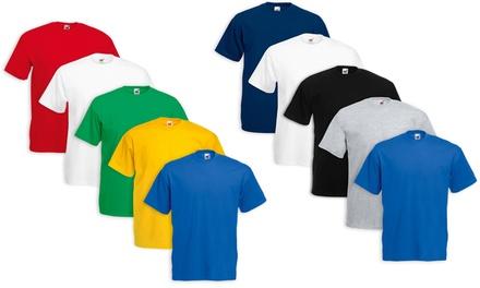 5 T-shirt Fruit of The Loom disponibili in vari colori e taglie