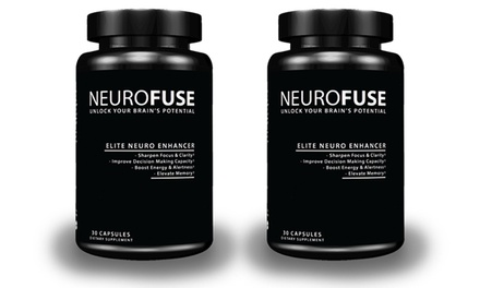 $59.99 for Two Bottles of Cognitive-Enhancement Supplements from Neurofuse ($119.98 Value)