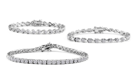 CZ Tennis Bracelets in Sterling Silver