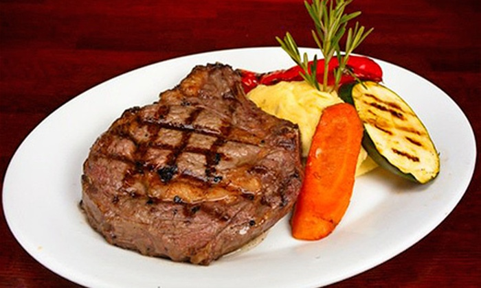 Wildfire Steakhouse & Wine Bar - North York: $95 for a Four-Course Meal for Two with Wine Pairings at Wildfire Steakhouse & Wine Bar (Up to $200 Value)