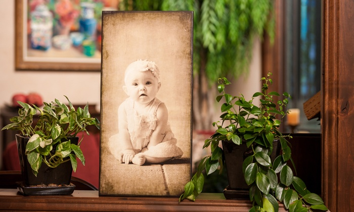 Sugar House Banners - Midvale: Antique-Style Wood Photo Prints from Sugar House Banners (Up to 52% Off). Four Options Available.