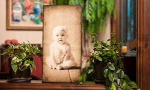 Sugar House Banners: Antique-Style Wood Photo Prints from Sugar House Banners (Up to 52% Off). Four Options Available.